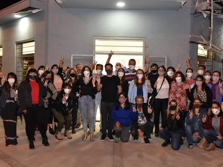 Con fuerte apoyo a Alejo Sarna, el Movimiento Mayo inauguró su local