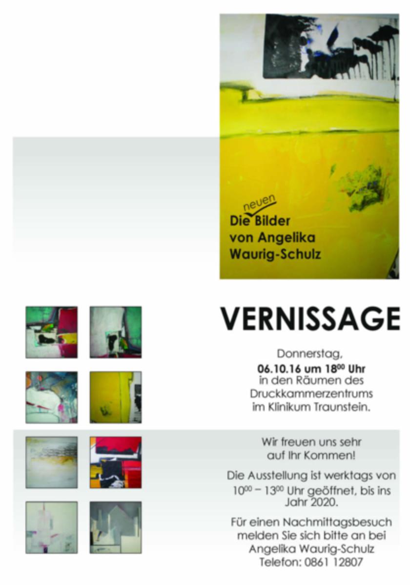 Vernissage im Druckkammerzentrum im Klinikum Traunstein