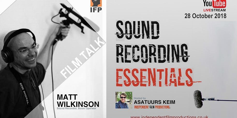 Sound Recording Essentials [Facebook Live Stream]