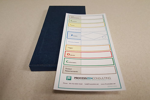 Pack of 50 enhanced SIPOC cards