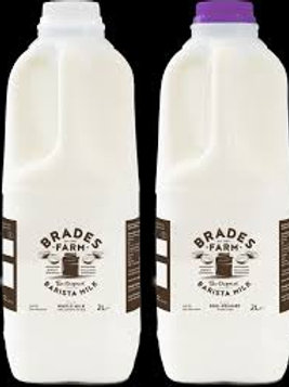 Brades Farm Whole Milk (2 litres)