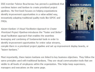 """The institute of Industrial and Systems Engineers selects """"Kaizen Kanban"""" for book of the"""