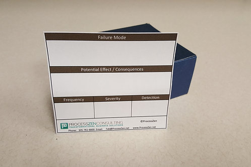 copy of Pack of 150 Failure Mode and Effect Analysis cards