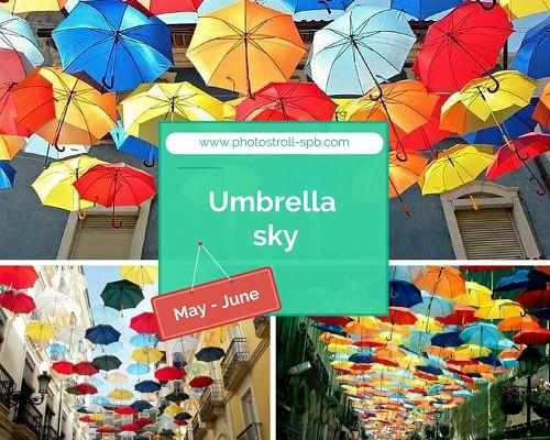 Umbrella Sky in Saint Petersburg