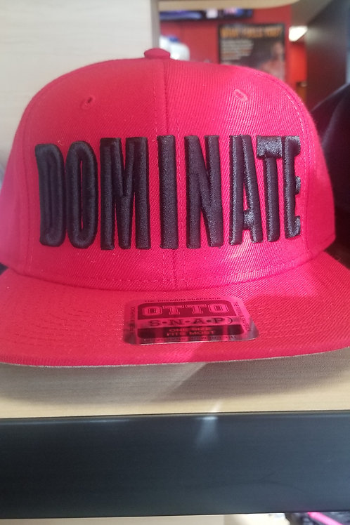 Black/Red DOMINATE Hat