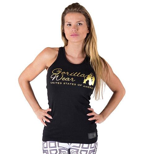 Gorilla Wear Florence Tank Top - Black/Gold
