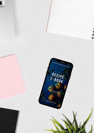 Mobile displaying e-book