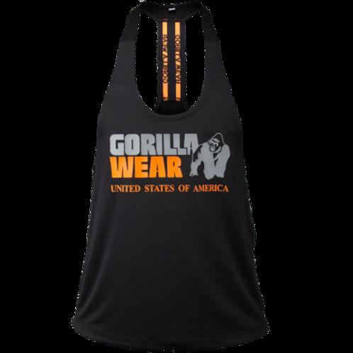 Gorilla Wear Nashville Tank Top - Black/Orange