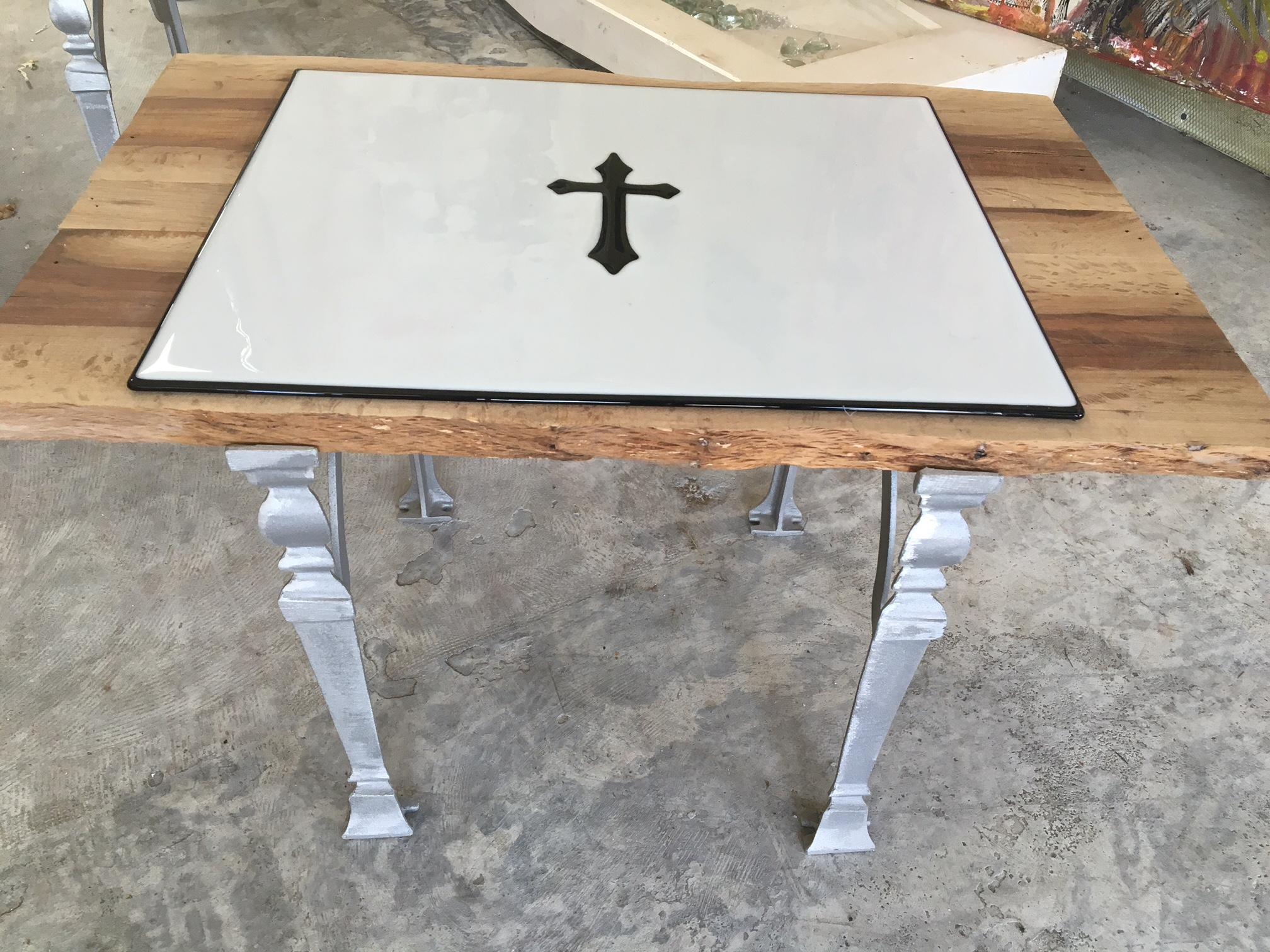 Glass Fused Table_$1500.