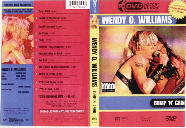 WENDY O WILLIAMS LIVE