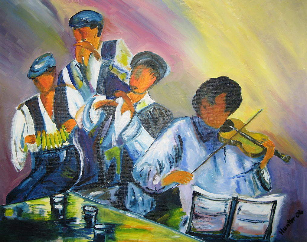 Irische Musikanten