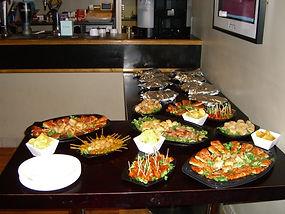 buffet, menu, venue hire