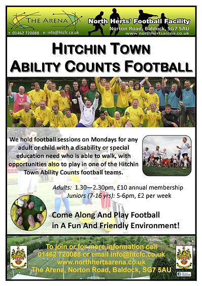 Football training, disability football