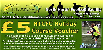 holiday courses, voucher