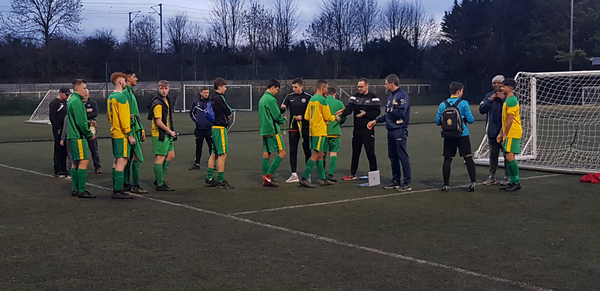 Players are congratulated & awarded medals