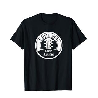 Logo w/ Guitar (White) T-Shirt