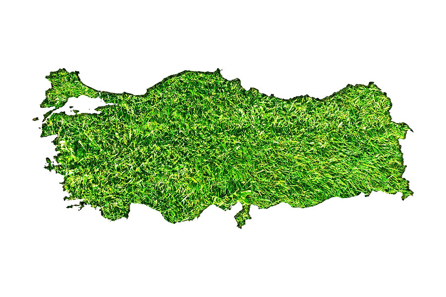 Turkey map made from cutted papers with