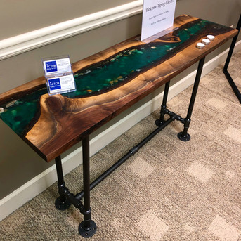 Resin River Entryway Table