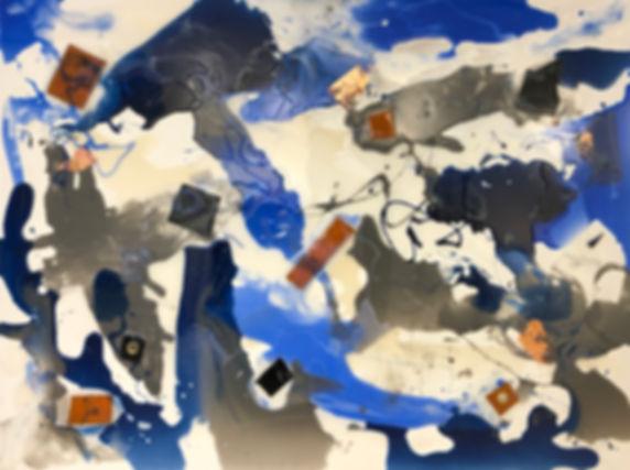 _Blues and Glues_ 36x48
