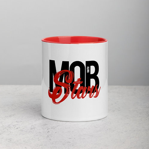 Red MOB Stars Mug with Color Inside