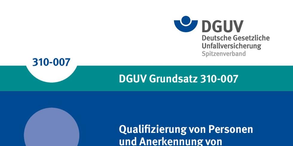 "Grundlehrgang ""befähigte Person"" nach DGUV 310-007"