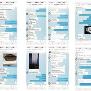 Comadres - 2021  Beatriz Rosas Lua Portugal Marcela Botelho  Print de celular impresso 15 x 6cm (cada)