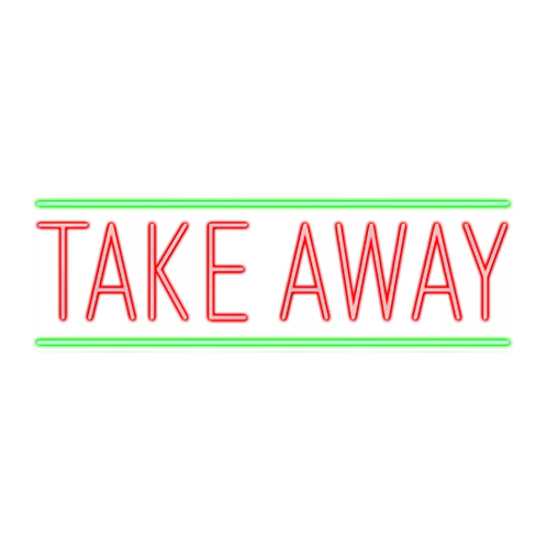 TAKE AWAY - 53x17cm