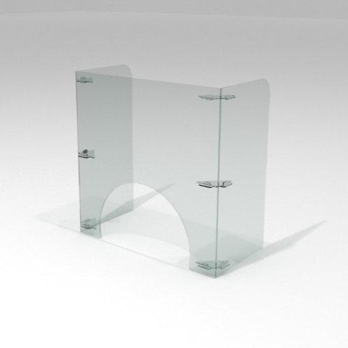 Barrera Sanitaria p/ Manicura 60x60cm + 30cm de Alas +IVA