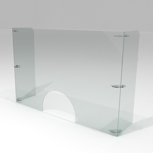 Barrera Sanitaria p/ Manicura 120x80cm + 30cm de Alas +IVA