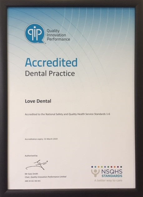 Love Dental Accreditation