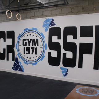 Crossfit 1971 Gym Artwork Decoration interior design