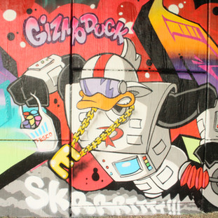 Gizmoduck from Ducktales painting