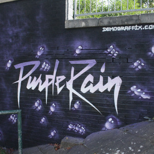 Prince Purple Rain Memorial Mural Luton