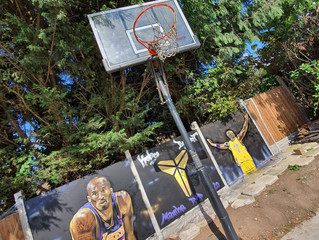 RIP Kobe Bryant Tribute Mural