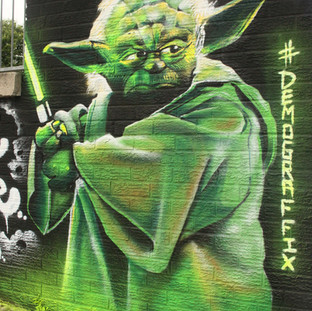 Yoda Star Wars Graffiti Painting