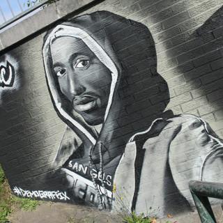 Tupac Memorial painted Mural Luton