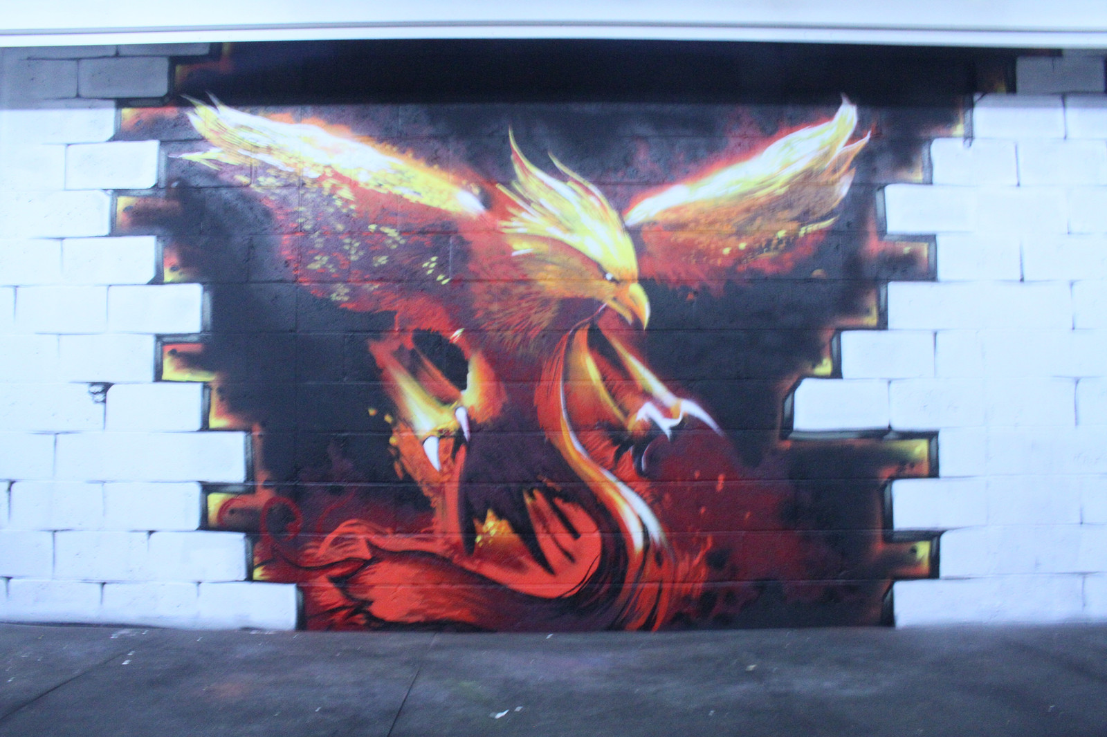 Iron Phoenix Crossfit Graffiti Fire Bird
