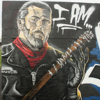 Negan from The Walking Dead  graffiti charater painting artwork