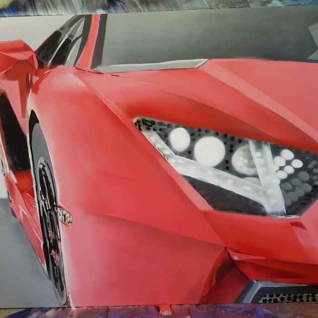 Lamborghini Headlight Red