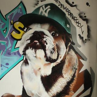 Buster the Bulldog Portrait