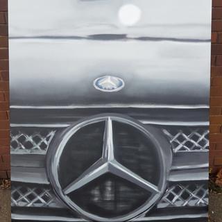 Mercedes Badge Grey