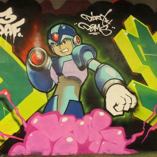 Megaman graffiti streetart