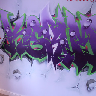 Kids Bedroom Graffiti Artwork