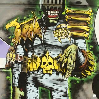 2000ad Judge Death Painting