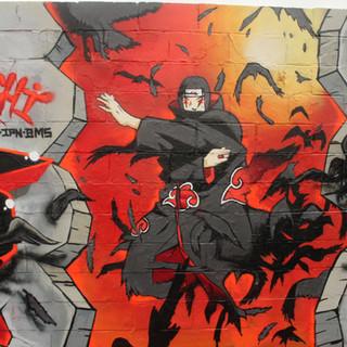 Itachi Artwork graffiti character