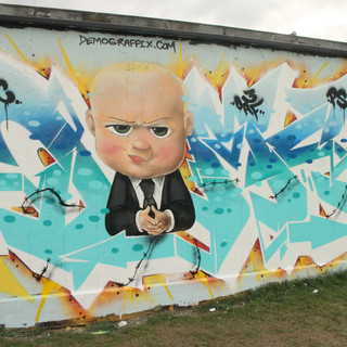Boss Baby Graffiti Artwork