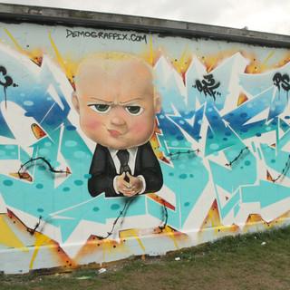 Boss Baby Graffiti Artwork
