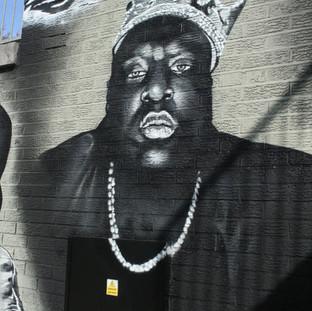 Biggie Memorial painted Mural Luton