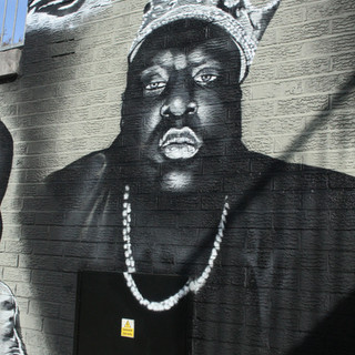 Biggie Memorial painted Mural Luton