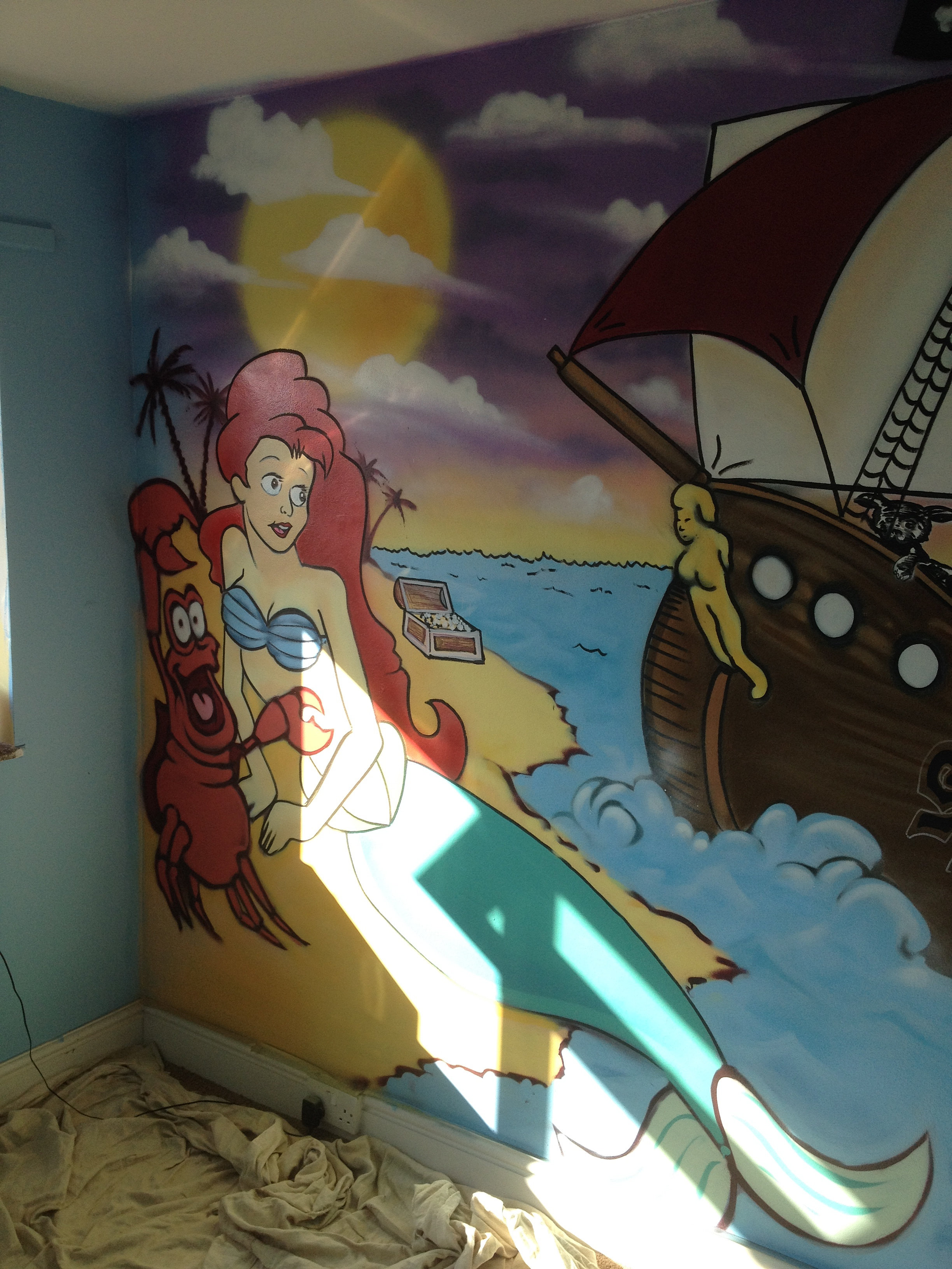 Little Mermaid Bedroom Demograffix The Hertfordshire And London Graffiti Art Specialists